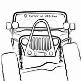 Jeeps sketch template