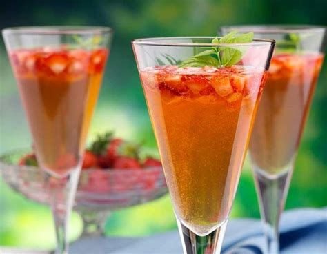 Grenadine syrup 3 (1 pt., 12 oz.) bottles ginger ale, chilled ice cubes 40 lemon peel twists 40. Mock Strawberry Champagne adds an elegant touch to a Valentine's meal - even the kids will feel ...