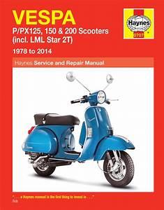 Vespa Px 150 2001 2007 Workshop Service Manual