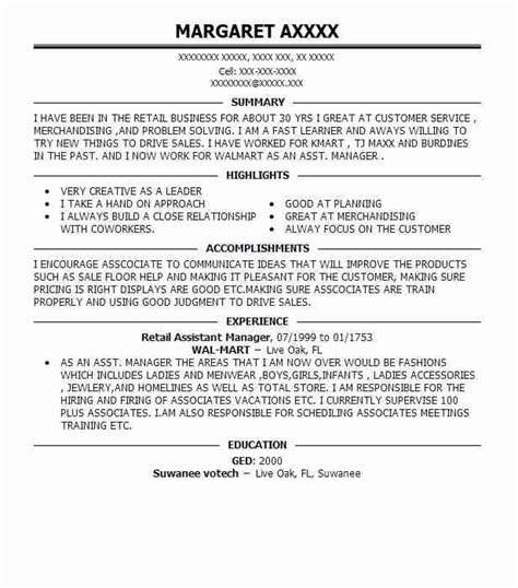 Assistant Merchandise Manager Resume by 100 100 Retail Store Manager Resume Amazing Resume