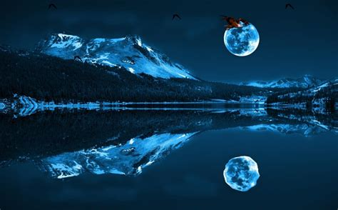 Blue Animated Wallpaper - blue moon wallpapers wallpaper cave