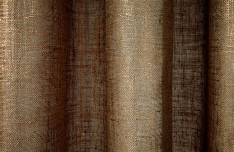 linen sheer metallic drapery in copper traditional