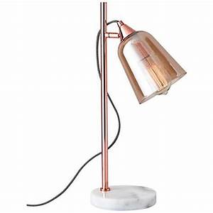 marlon shiny copper with amber glass shade table lamp With shiny copper floor lamp
