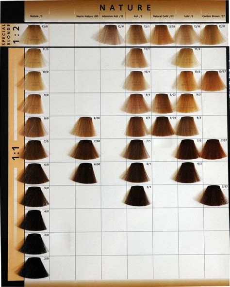 koleston color chart wella hair color swatch book coloring page