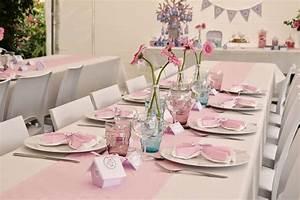 Idée Bapteme Fille : decoration bapteme fille table ~ Preciouscoupons.com Idées de Décoration