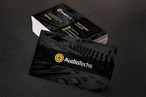 Audio engineer business cards logo business card for Audio business card