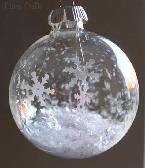 glass ball snowflake ornament share  craft diy