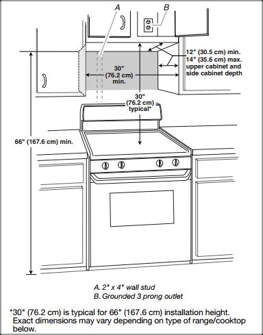 standard stove width for cabinets install an over the range microwave oven