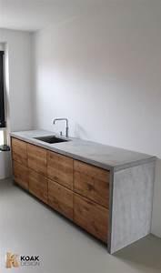 Küche Aus Beton : wundersch ne k che aus beton und holz diy arbeitsplatte zum selbermachen wohnzimmer ~ Sanjose-hotels-ca.com Haus und Dekorationen