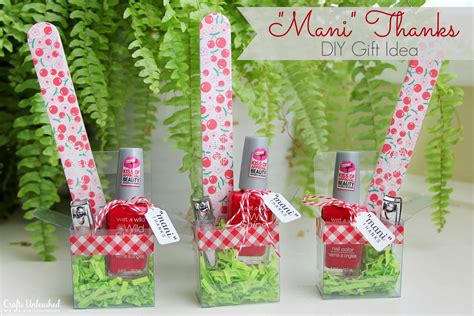 craft gift ideas diy gift idea for girls quot mani thanks quot manicure set