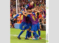 Footballers Celebrating A Goal Editorial Image Image