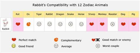 rabbit love compatibility relationship  matches