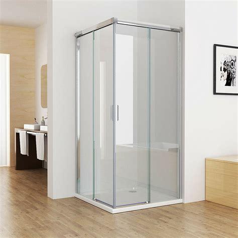 duschabtrennung glas 90x90 duschkabine duschabtrennung eckeinstieg doppel schiebet 252 r nano glas 80x80 90x90 ebay