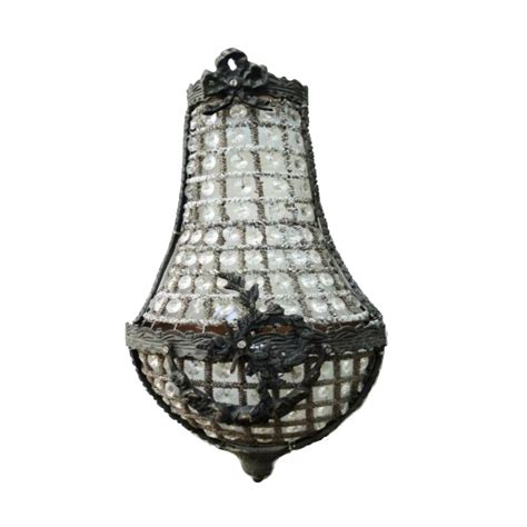 european crystal replica small wall sconce light fixture chateau mansion the kings bay