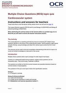 Cardiovascular System - Mcq Topic Quiz
