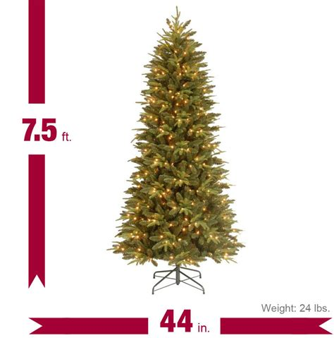 7 5 ft feel real pomona pine slim artificial christmas