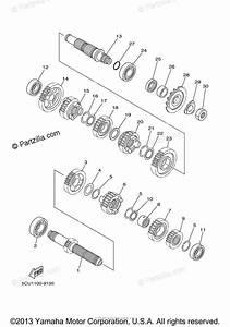 Yamaha Motorcycle 2003 Oem Parts Diagram For Transmission