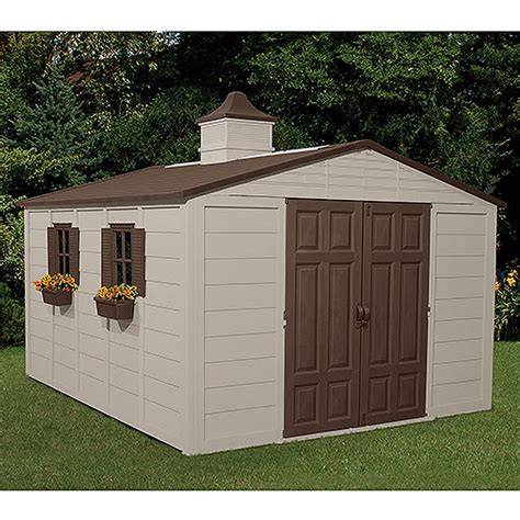 suncast outdoor storage shed suncast 10 x 12 5 outdoor storage building shed