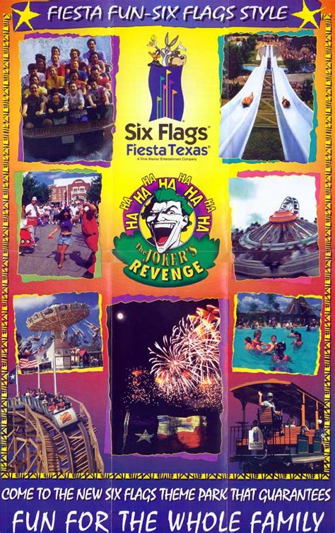 theme park brochures  flags fiesta texas theme park