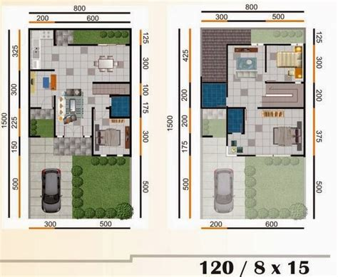 sketsa rumah minimalis type  modern gambar desain