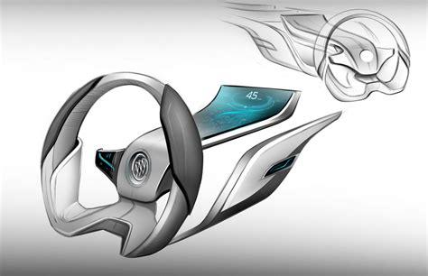 buick riviera concept interior design sketch steering