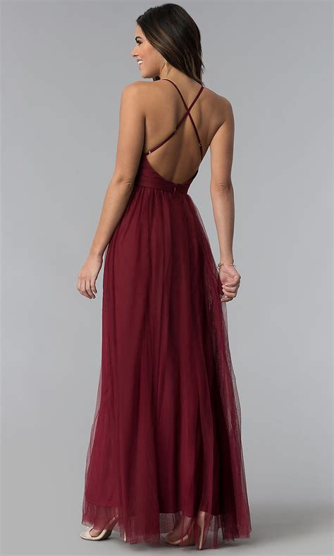 Sexy Prom Dress With Deep V Neckline Promgirl