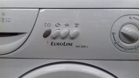 neue waschmaschine euroline wa 2005 j