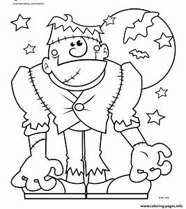 Halloween Monster Coloring Pages Printable