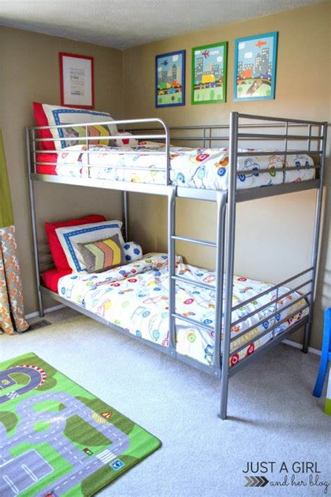 Ikea Svarta Bunk Bed by The Cs Ikea Big Boy Room Reveal Just A And