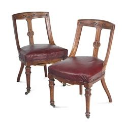 a set of four oak dining chairs second half