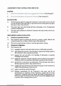 13 best images of personal services agreement service With personal services agreement template
