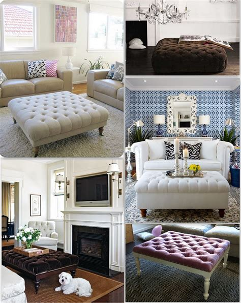 how to decorate an ottoman furniture interesting tufted ottoman coffee table for