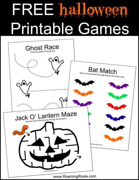 Free Halloween Printable Games  Roaming Rosie