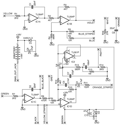 Bass Guitar Preamp Schematic Somurich
