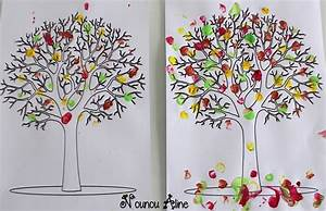Feuilles D Automne à Imprimer : arbre en peinture nounou aline ~ Nature-et-papiers.com Idées de Décoration