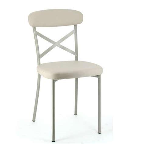 magasin de chaise de cuisine chaise de cuisine en synthétique et métal calia 4