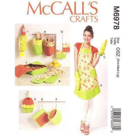 patron de tablier de cuisine patron tablier accessoires cuisine mccall 39 s m6978