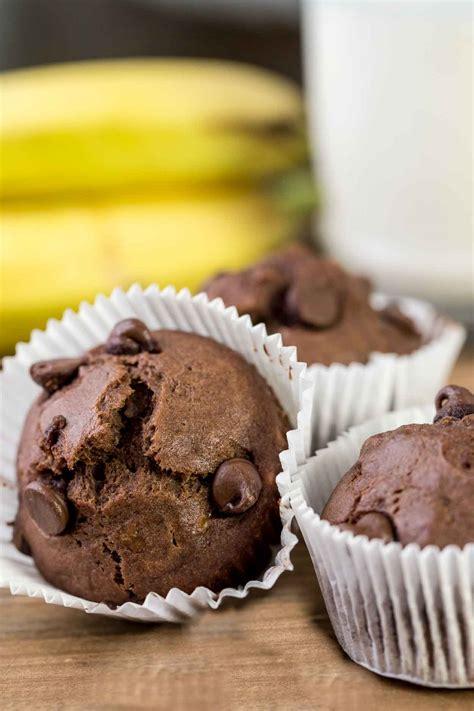 quick chocolate banana muffins recipe valentinas corner