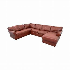87 off ethan allen ethan allen burgundy leather With leather sectional sofa ethan allen
