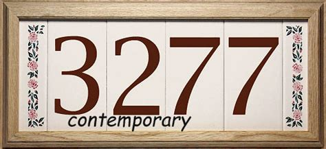 custom ceramic tile house numbers
