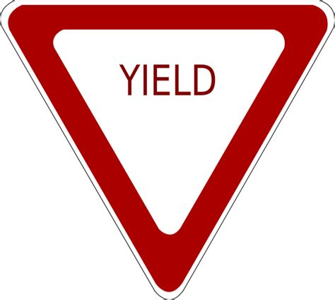 yield sign clip art  clkercom vector clip art
