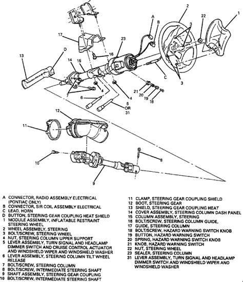 Need Assembly Diagram For Camaro Steering Column