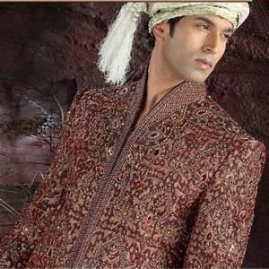 Tenue Indienne Homme : vente tenue indienne de mari bordeaux brod et incrust de pierres ~ Teatrodelosmanantiales.com Idées de Décoration