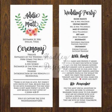 wedding programs wedding ceremony programs wedding