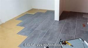 pose de dalles gerflor carrelage mineral la salle de With carrelage adhesif salle de bain avec escalier a led