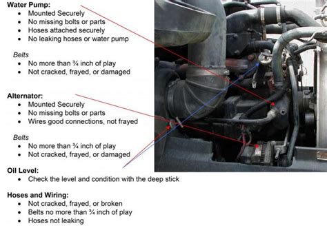 nys inspection check engine light waiver tractor trailer pre trip inspection diagram commercial