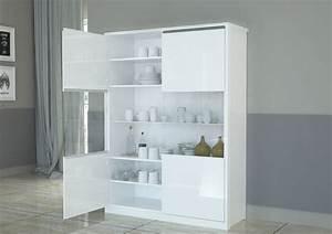 Vetrina moderna Avana credenza bianca mobile soggiorno design