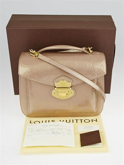 louis vuitton beige poudre monogram vernis mirada bag