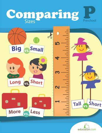 comparing sizes workbook educationcom