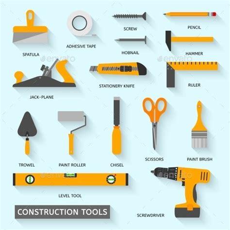 construction tools icons set construction tools
